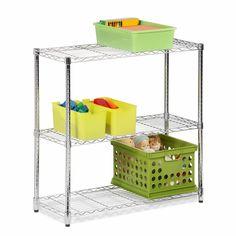 Industrial 3-Tier Chrome Storage Shelves