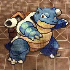009 - Blastoise Pokemon perler beads by perler_purrs
