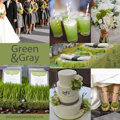 This is cute! Green and Gray Wedding Colors | #exclusivelyweddings