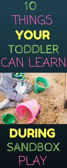 Summer is here and there are so many new things your toddler can learn from being outside. Encourage your toddler's motor skills, cognitive skills, language skills, self help skills, and social skills all through sandbox play.