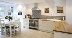 Znalezione obrazy dla zapytania kitchen diner and lounge design images Kitchen Corner, Kitchen Living, New Kitchen, Kitchen White, Kitchen Wood, Kitchen Modern, Living Room, Grey Kitchen Wall Tiles, Grey Kitchen Diner