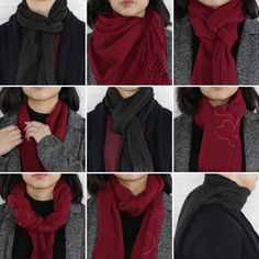 9 classy ways to wear a winter scarf winter fashion scarfh Is winter over yet? ☃️ Until then, these 9 classy ways to wear a scarf will keep you warm! 30 Awesome Photo of Impressive Ways To Wear Blanket Scarf, You can generate a bandana for canines by Diy Fashion, Ideias Fashion, Winter Fashion, Fashion Outfits, Fashion Tips, Trendy Fashion, Fashion Clothes, Trendy Style, Style Fashion