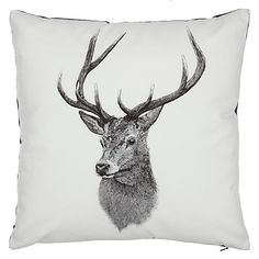 Buy Ben Rothery Henry Stag Cushion Online at johnlewis.com