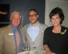 The Museum's Executive Director Van Shields with Leo Quiles and gallerist Sienna Patti.