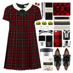 """""""Plaid"""" by barbarela11 ❤ liked on Polyvore featuring Yves Saint Laurent, Faber-Castell, Jas M.B., ZeroUV, Butter London, Marni, MAC Cosmetics, Abyss & Habidecor, Jo Malone and Kate Spade"""