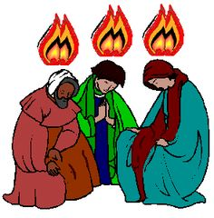 Teaching Pentecost to your children: Tongues of fire descending