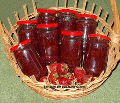 Sirop de capsuni - Bunătăți din bucătăria Gicuței Preserves, Pickles, Salsa, Strawberry, Cooking Recipes, Jar, Food, Drinks, Syrup
