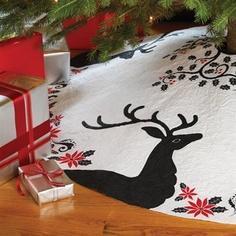 Christmas tree skirt I keep thinking about doing...
