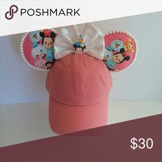 Tsum Tsum Inspired Minnie Mickey Mouse Hat Ears Handmade ears on a dads hat Accessories