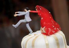 Super Cute Indian Wedding Cake Topper!