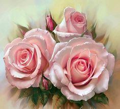 Сочные розы от художника Анны Лакисовой... фото #2