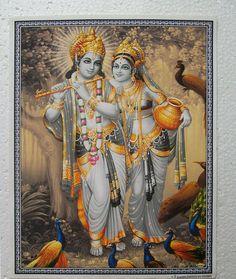 Radha Krishna, Peacocks - POSTER - 9