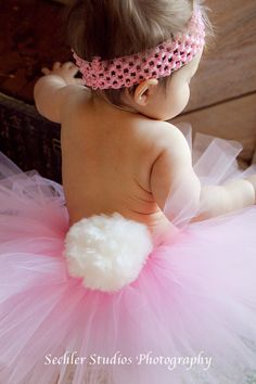 LIL BUNNY tutu Pink Easter tutu size nb3that by alliballiboutique, $24.95