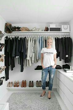 Ideas Walk In Closet Organization Ideas Ikea Dressing Rooms Wardrobe Closet, Closet Bedroom, Closet Space, Capsule Wardrobe, Ikea Closet, Simple Wardrobe, Minimal Wardrobe, Simple Closet, Ikea Walk In Wardrobe