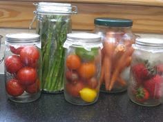 Storing Produce in Glass Is Safe, Healthy, and Beautiful - check out this blog for some great plastic-free ideas!
