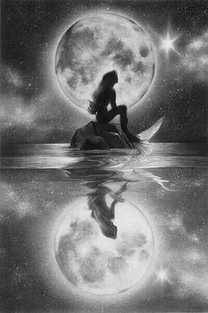 If there's a wish I could make When a star last light fades away I would wish one thing with all my heart Be there someone to believe in me when I Mermaid Artwork, Mermaid Drawings, Mermaid Tattoos, Mermaid Paintings, Fantasy Mermaids, Mermaids And Mermen, Mythical Creatures, Oeuvre D'art, Disney Art