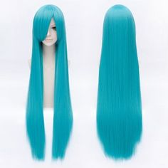 SHARE & Get it FREE | Trendy Long Straight Lake Blue Side Bang Charming Hatsune Miku Cosplay WigFor Fashion Lovers only:80,000+ Items·FREE SHIPPING Join Dresslily: Get YOUR $50 NOW!