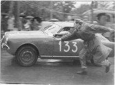 1956 .. Mille Miglia , driven by Mario Milanesi , Alfa Romeo Giulietta SV , finished 16th in GT1.3 class .