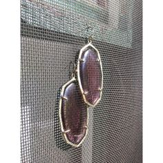 Big Purple Amethyst Glass Dangle Earrings in pretty goldtone settings ($20) ❤ liked on Polyvore featuring jewelry, earrings, amethyst earrings, glass jewelry, gold colored jewelry, amethyst jewelry and dangle earrings