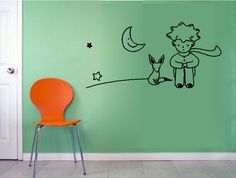 The Little Prince & Fox Moon Star Decor Mural Art Wall Sticker Decal WY754 | eBay