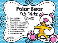 Are you looking for Polar Bear themed activities to go along with your Winter or Eric Carle Polar Bear book?  Well these file folder games should fit the bill!  Click on the PREVIEW to see photos of all of the activities in this download!  Here is what you get:Polar Bear Color MatchingPolar Bear Shape MatchingPolar Bear Uppercase to Lowercase A-LPolar Bear Uppercase to Lowercase M-ZPolar Bear Letter to Initial Sound A-LPolar Bear Letter to Initial Sound M-ZPolar Bear 1-10 Number MatchingPola... Shape Matching, Matching Games, Polar Bear Color, Initial Sounds, File Folder Games, 2 Year Olds, Arctic Animals, Uppercase And Lowercase, Eric Carle