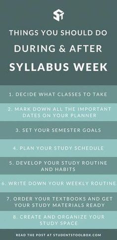Wondering what to do during syllabus week and the first day of school? Here are some important tips for college and high school students some the things that you need to do in order to get ahead for this semester! Right To Education, Education College, College Classes, High School Students, College Students, Professor, First Day Of College, Study Schedule, High School Life