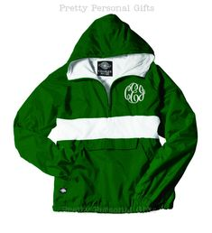 Pullover Windbreaker Jacket with monogram Rugby Stripe