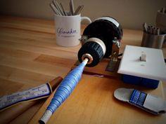 Home built electric bobbin winder.