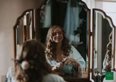 Gorgeous shot of Bronwyn getting ready for her big day in our bridal suite! 📸 by Louise Scott Real Weddings, Autumn Weddings, Bridal Suite, Big Day, Fall Wedding, Romantic, House, Inspiration, Blush Fall Wedding