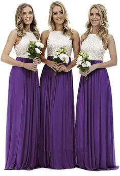 WTW Women's Long Chiffon Lace Party Ball Prom Bridesmaid Dress Cheap Bridesmaid Dresses Online, Party Dresses Online, Dress Online, Lace Bridesmaid Dresses, Wedding Party Dresses, Gown Wedding, Party Gowns, Prom Dresses, Formal Dresses