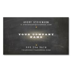 Cool Retro Rustic Black Vintage Typographic Business Card Templates. This is a fully customizable business card and available on several paper types for your needs. You can upload your own image or use the image as is. Just click this template to get started!