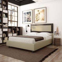 AMISCO - Surrey (12519) - Furniture - Bed - Industrial collection - Contemporary