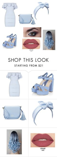 """light blue"" by bellapaige-clxxi on Polyvore featuring Alexander McQueen, Kate Spade, Beauxoxo and Smashbox"