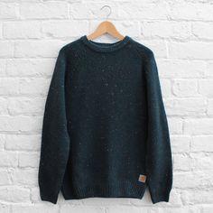 Carhartt WIP Anglistic Sweater - Dark Petrol Heather – FUSShop