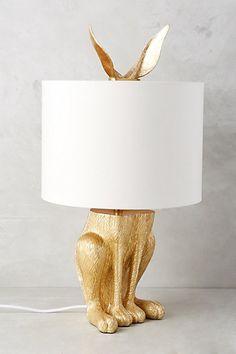 Gilded Hare Lamp Ensemble #anthropologie