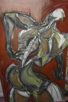 Unfinished oil on canvas. 8ft x 5ft