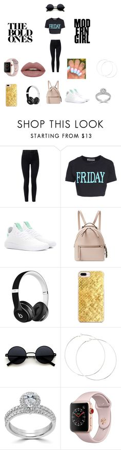 """""""lazy friday"""" by livliv017 on Polyvore featuring J Brand, Alberta Ferretti, adidas Originals, Fendi, Beats by Dr. Dre, Casetify, Bliss Diamond and Apple"""