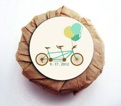 Wedding tandem bicycle Custom Soap Favors