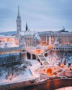 16 Likes, 0 Comments - Europe Visit Budapest, Budapest Travel, Bratislava, Budapest Winter, Places Around The World, Around The Worlds, Buda Castle, Winter Destinations, Cities In Europe