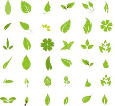 Modern, easy leaf designs
