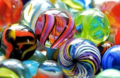"""""""Marble Madness.""""  Colorful macro shot."""