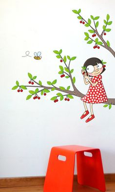 In addition, wall hangers make a nice decoration for your home Art Fantaisiste, Mural Art, Wall Murals, Wall Art, Cute Cartoon Drawings, School Murals, School Painting, Kids Room Paint, Envelope Art