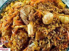 Özbek Pilavı Tarifi Pulled Pork, Japchae, Paella, Food And Drink, Ethnic Recipes, Kitchens, Shredded Pork, Recipes