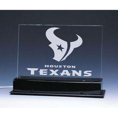 Houston Texans NFL Edge Light Team Logo Display