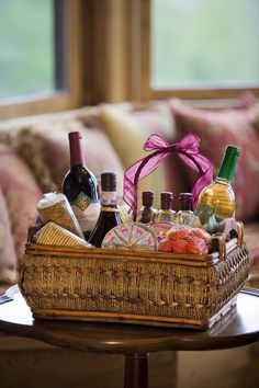DIY Cocktail Gift Baskets: A gift basket filled with cocktail fixings.