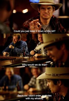 Previous Pinner: Ah, I love US Deputy Marshal Raylan Givens. Justified Quotes, Justified Tv Show, Tv Quotes, Movie Quotes, Raylan Givens, Timothy Olyphant, Great Tv Shows, Me Tv, Best Shows Ever