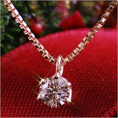 Rakuten: A diamond pink gold necklace pink gold champagne color diamond necklace pendant-diamond-[the jewelry which wants to put on in summer]- Shopping Japanese products from Japan