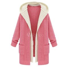 Long Knitted Fake Two-Piece Cardigan featuring polyvore, fashion, clothing, tops, cardigans, long red cardigan, long length cardigan, faux tops, red cardigan and long tops
