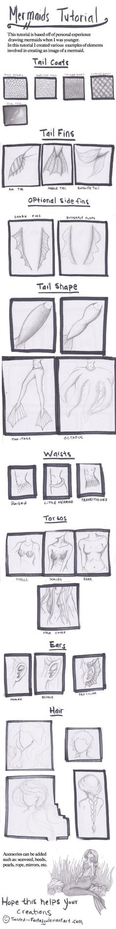 Mermaid Tutorial by Twisted--Fantasy on deviantART