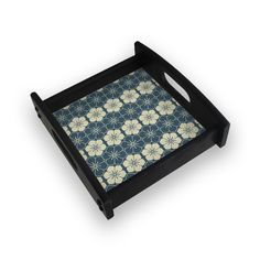 All new product Japanese Flower T... Check out http://www.colorpur.com/products/japanese-flower-tile-pattern-square-wooden-serving-tray-ebony-artist-astha?utm_campaign=social_autopilot&utm_source=pin&utm_medium=pin